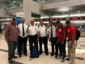 local team at airport heading to PR 9-27-17